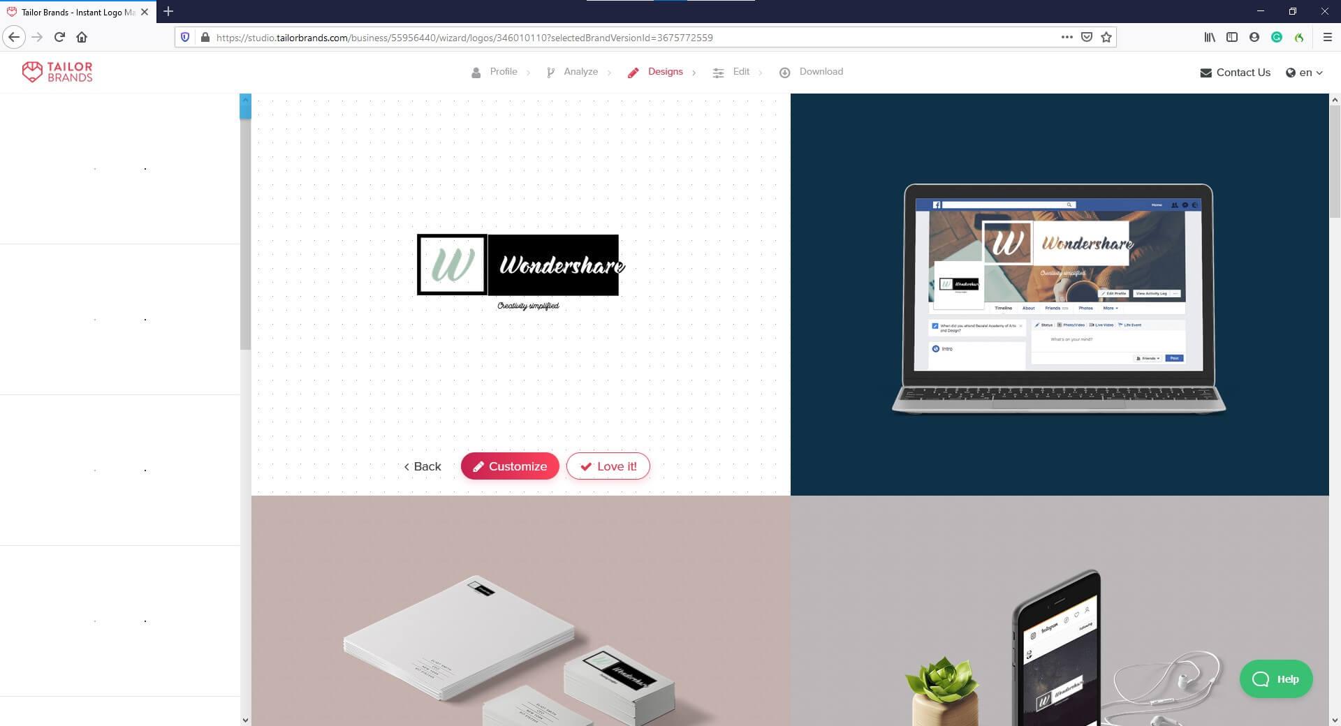 AI Logo Creator -Tailor Brands