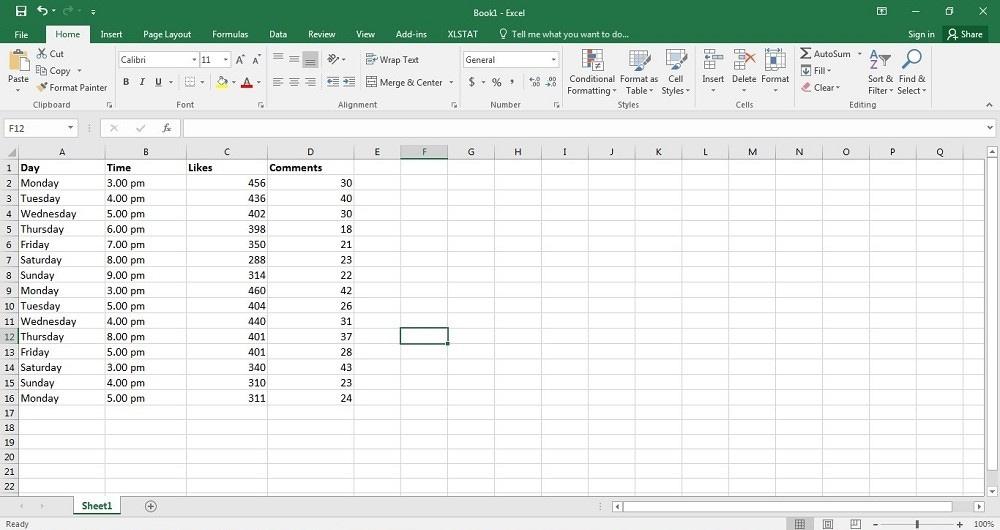 analyze with a spreadsheet