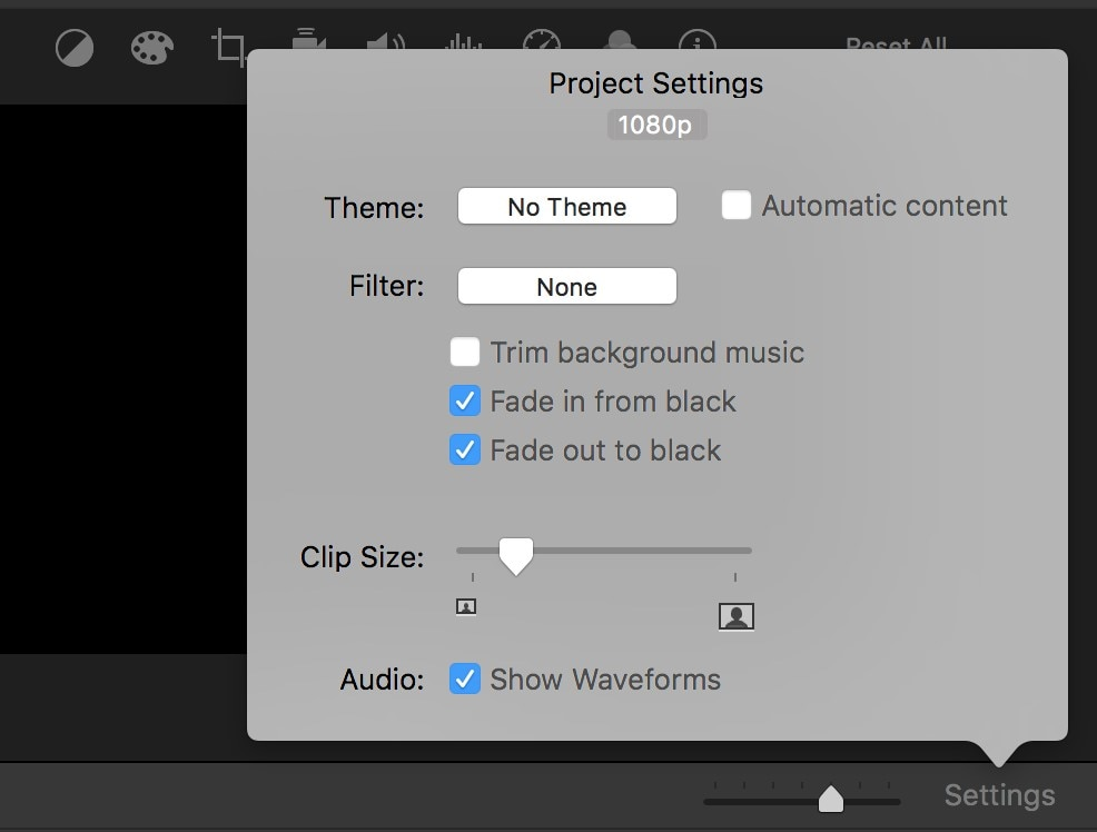 audio waveform imovie