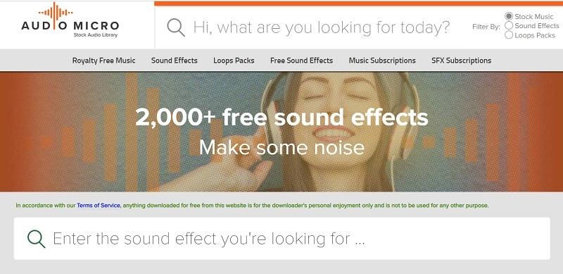 audiomicro free sound effects