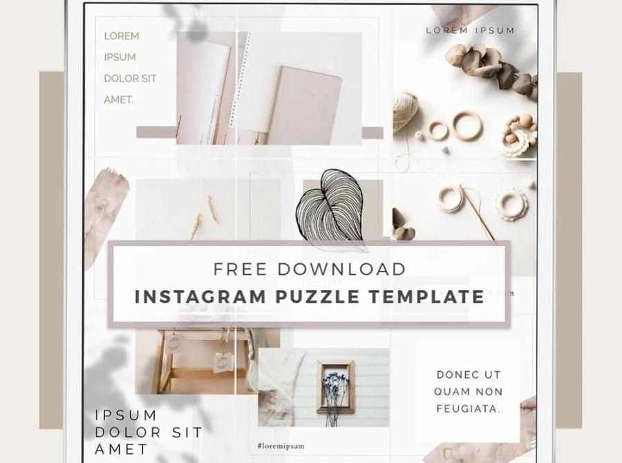 aura instagram puzzle template
