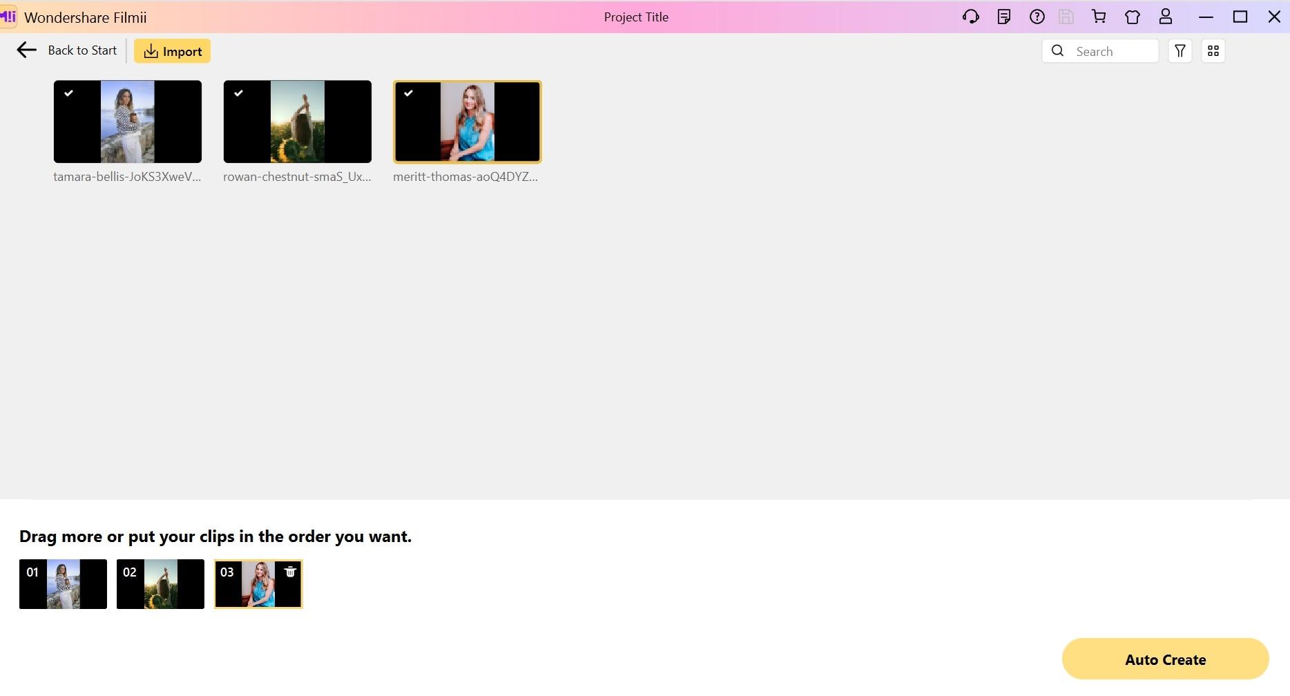create slideshow filmii