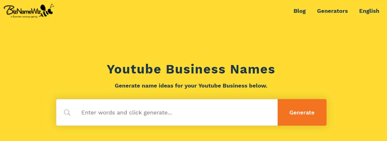 biznamewiz youtube vlog  name generator