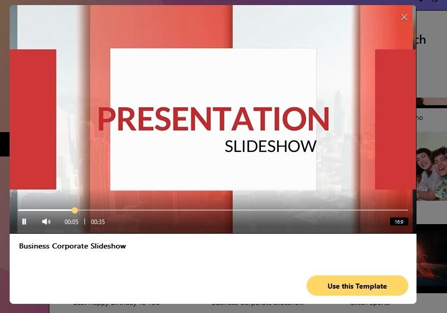 business corporate slideshow template filmii