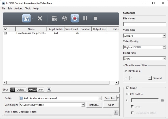 convert ppt to video imtoo