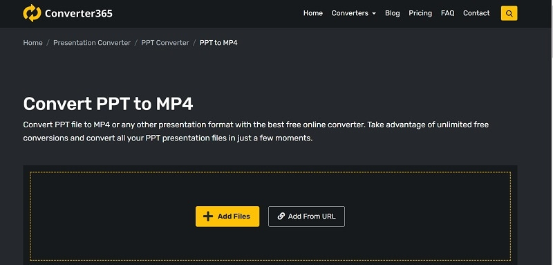 convert365 ppt to video