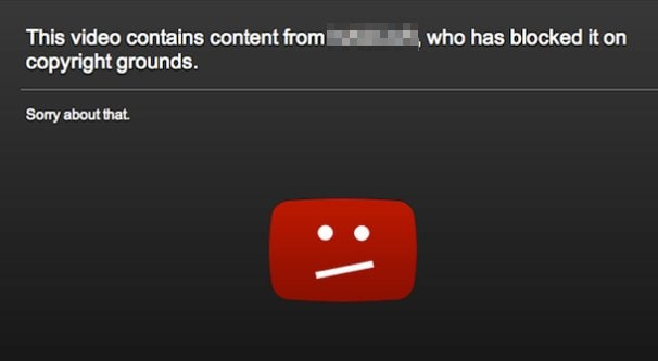 copyright strike from youtube
