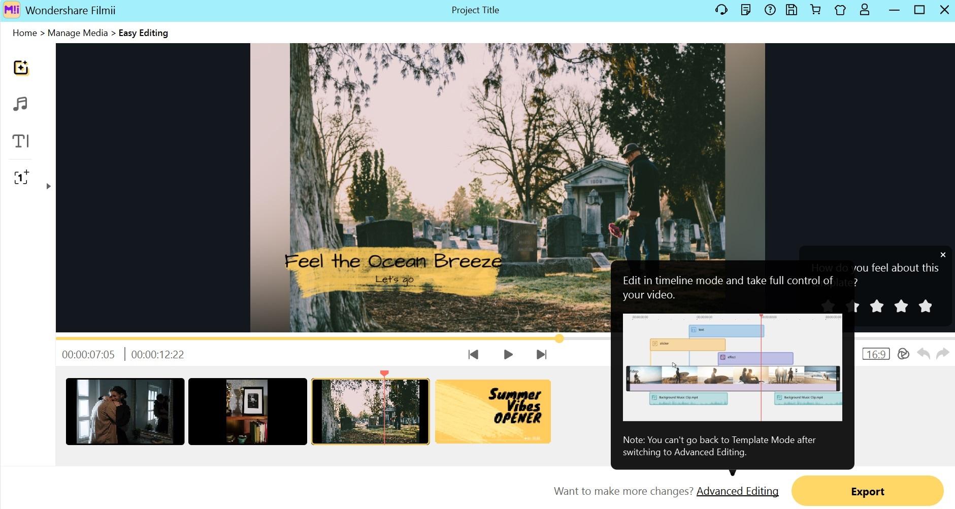 edit funeral slideshow