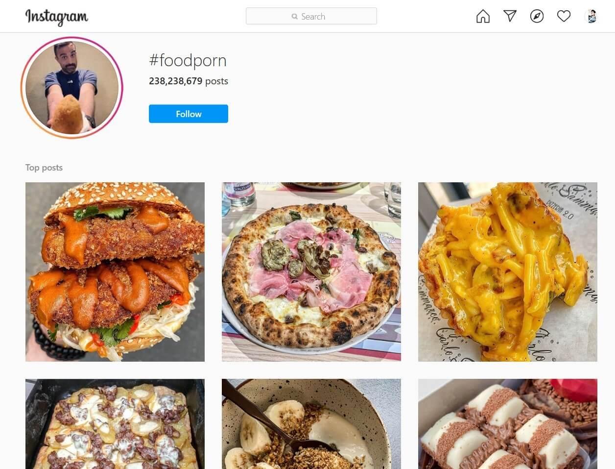 Food Vlog Hashtag