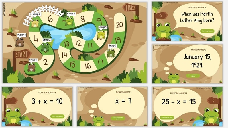 frog broad game template