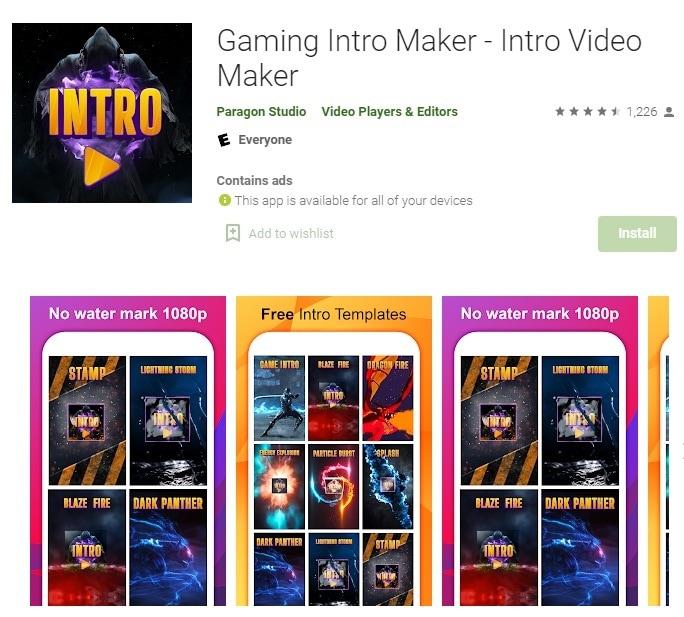 gaming intro maker