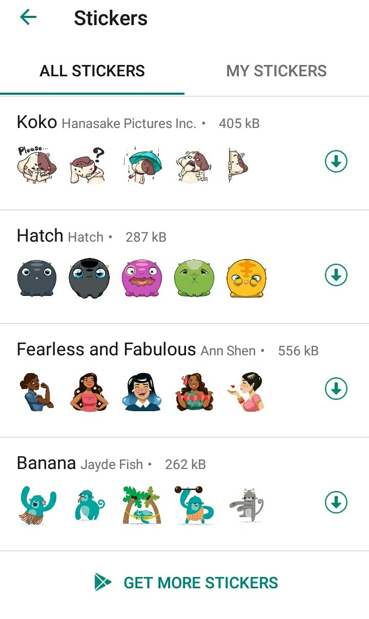 get more whatsapp stickers