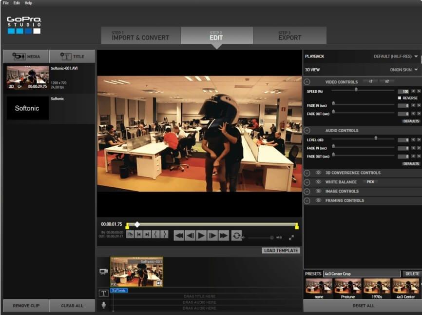 GoPro Studio Editor