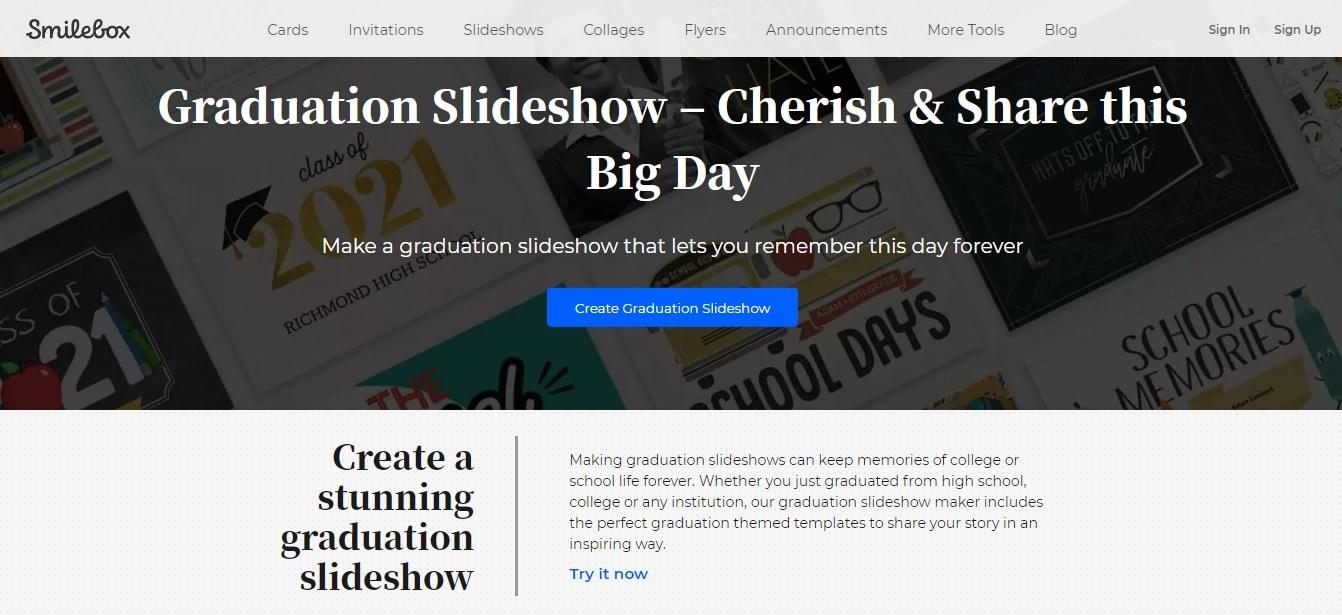 graduation slideshow smilebox