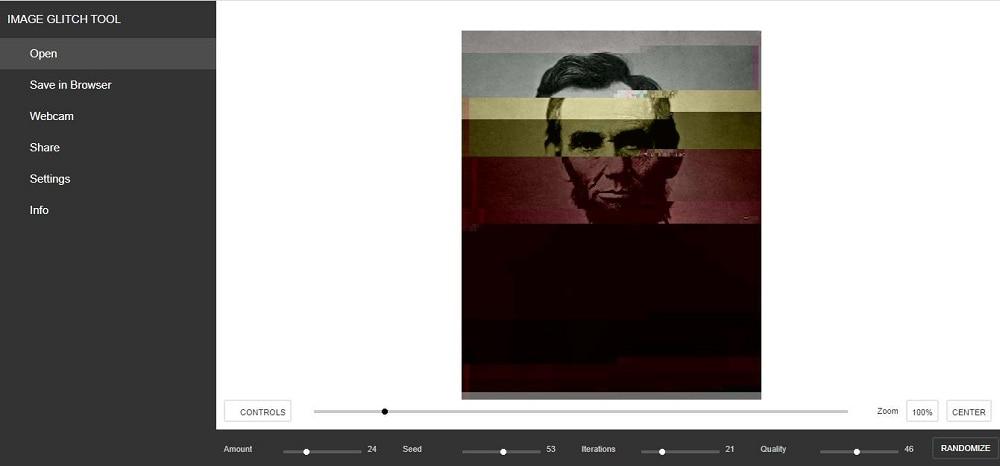 image glitch tool