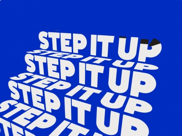 kinetic typography step