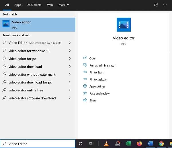 launch windows video editor