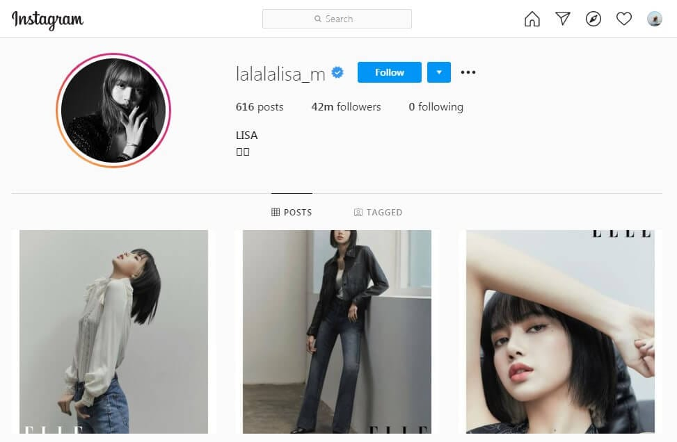 Lisa Instagram Influencer