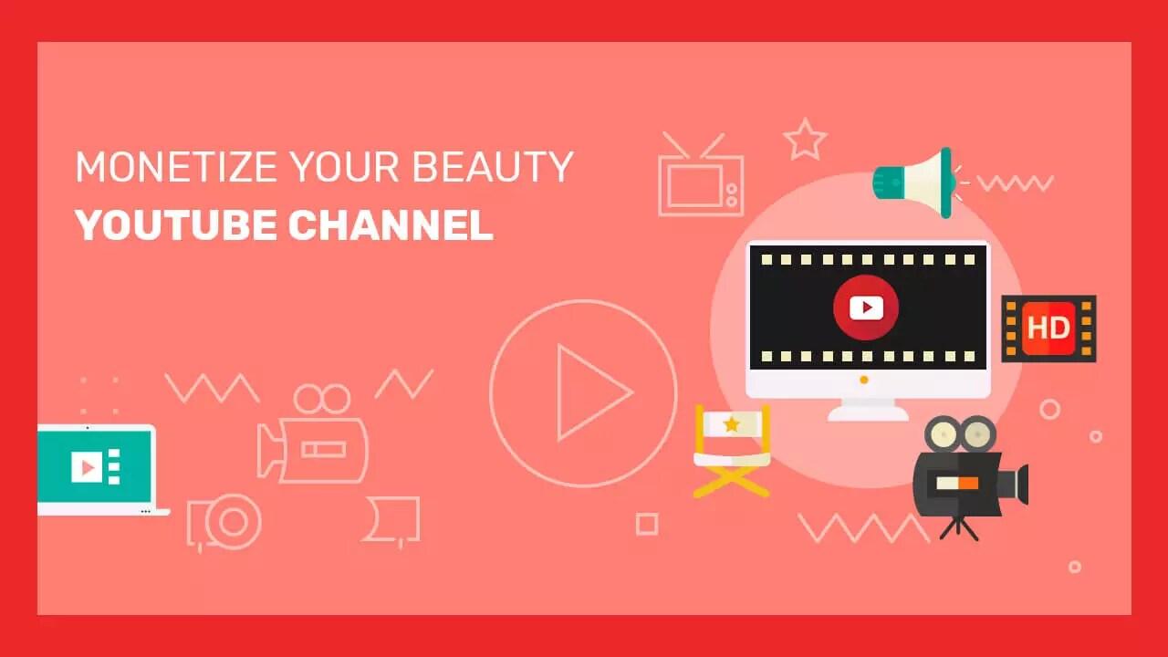 monetize beauty youtube channel