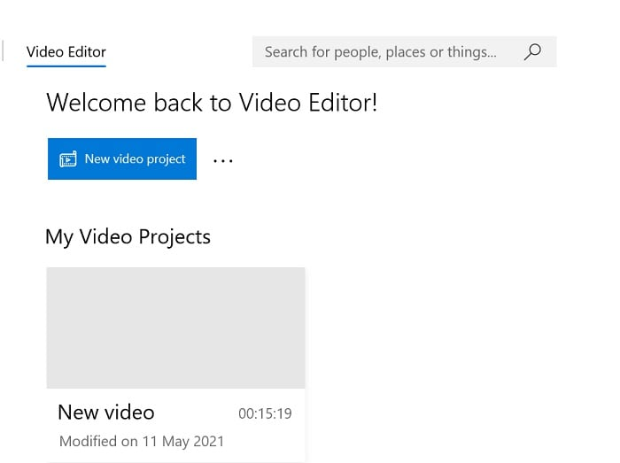 name project windows video editor