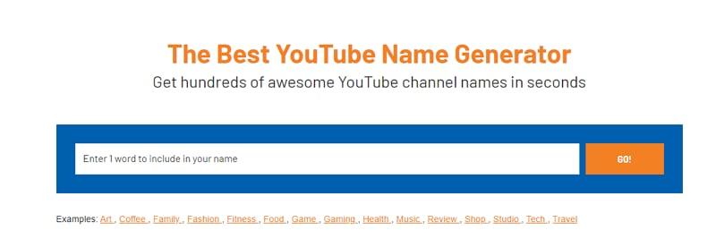 youtube vlog name generator
