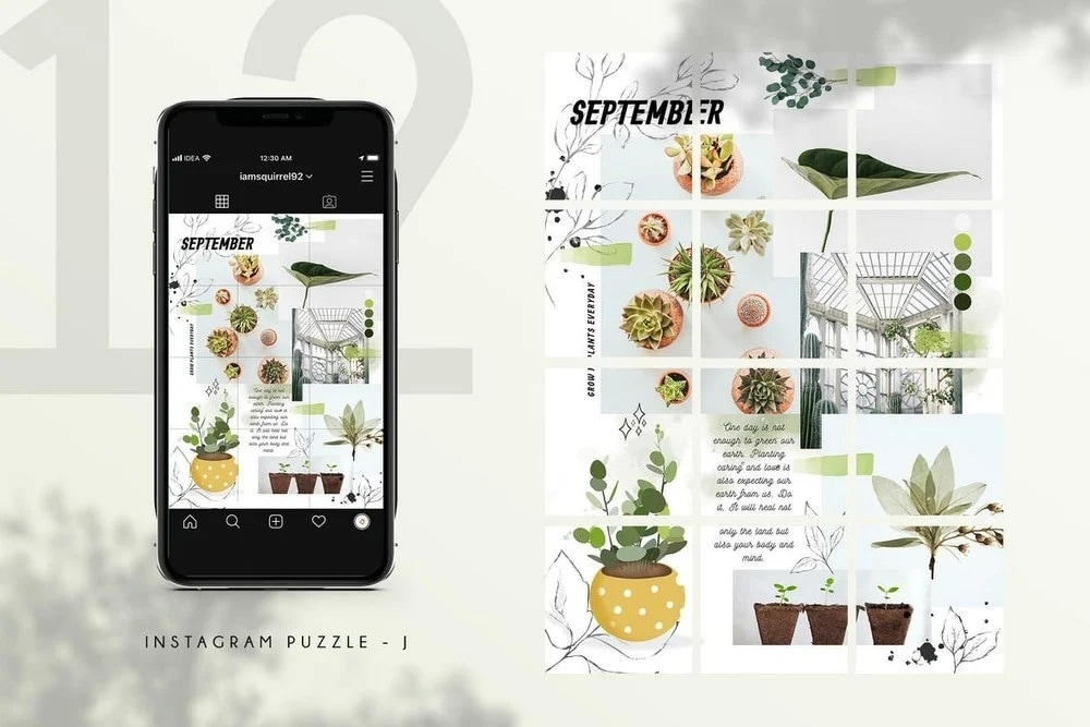 nature – puzzle feed template