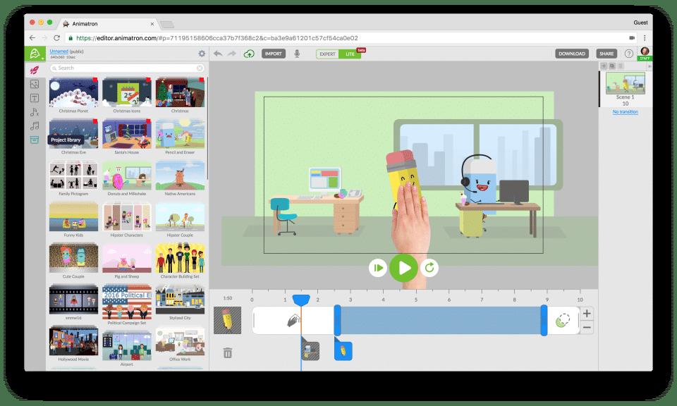 online animation maker animatron