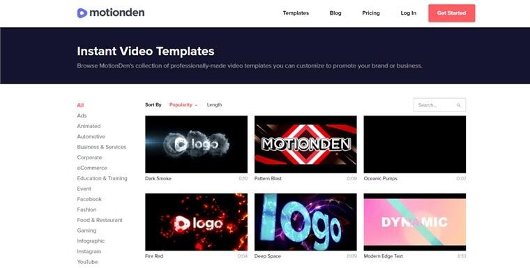 Online Slideshow Maker Motionden