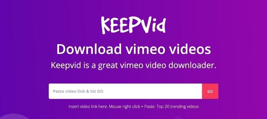 online vimeo converter keepvid