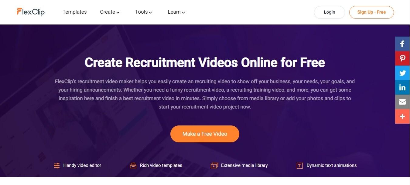 recruitment video flexclip
