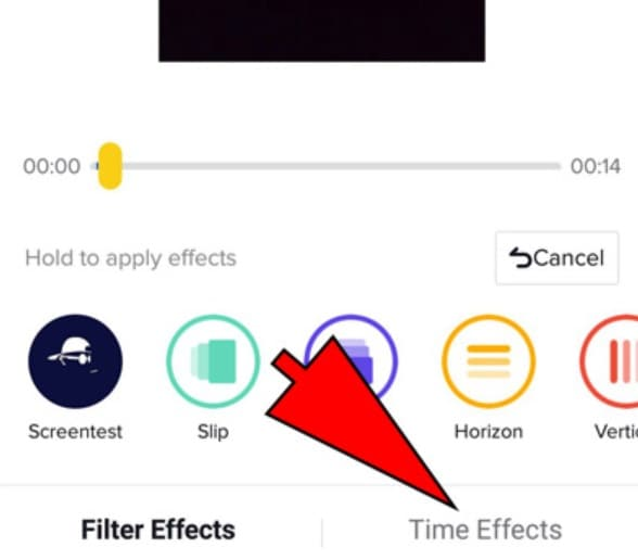 select time effects tiktok
