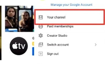 """""""select your channel youtube"""""""