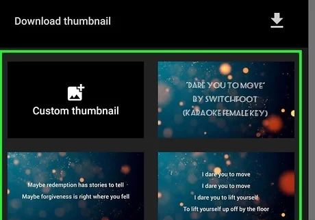 """select thumbnail"""