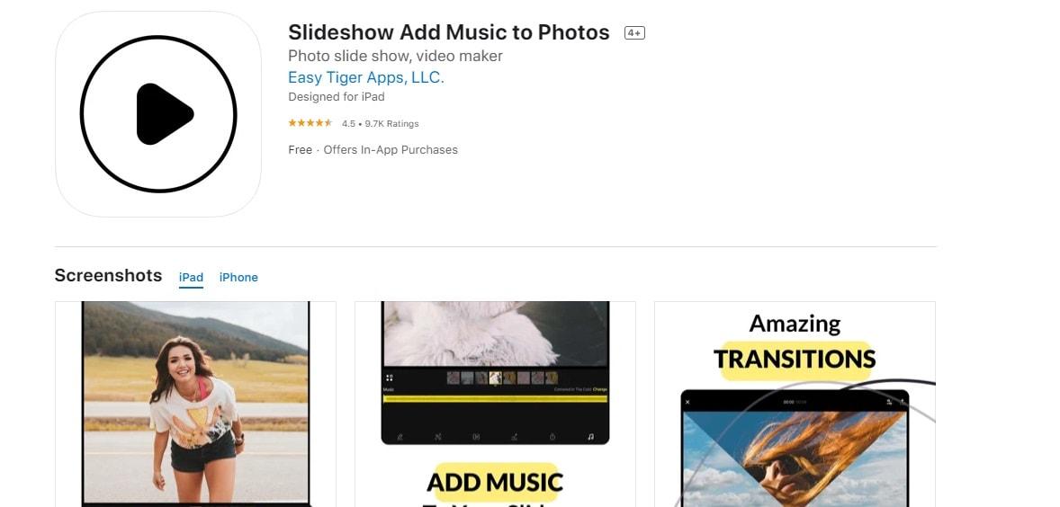 slideshow add music to photos