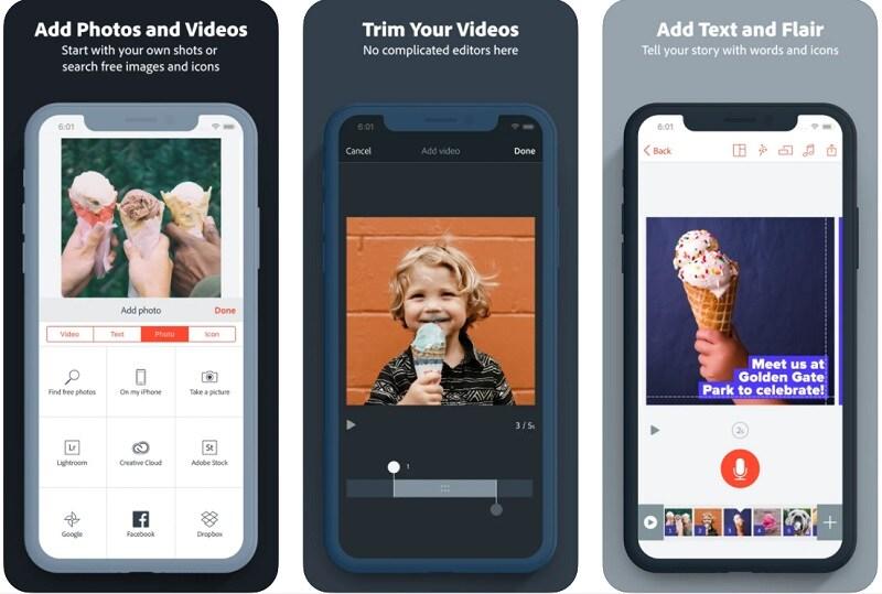 Slideshow App Adobe Spark