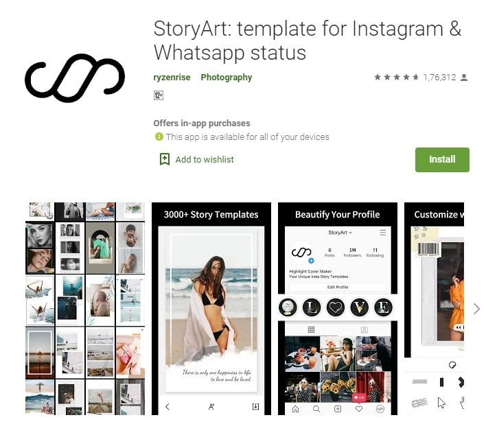 storyart ig collage app