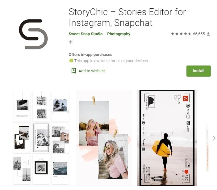 storychic ig collage app
