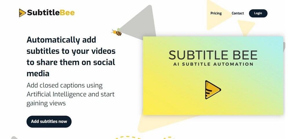 subtitlebee video subtitle generator