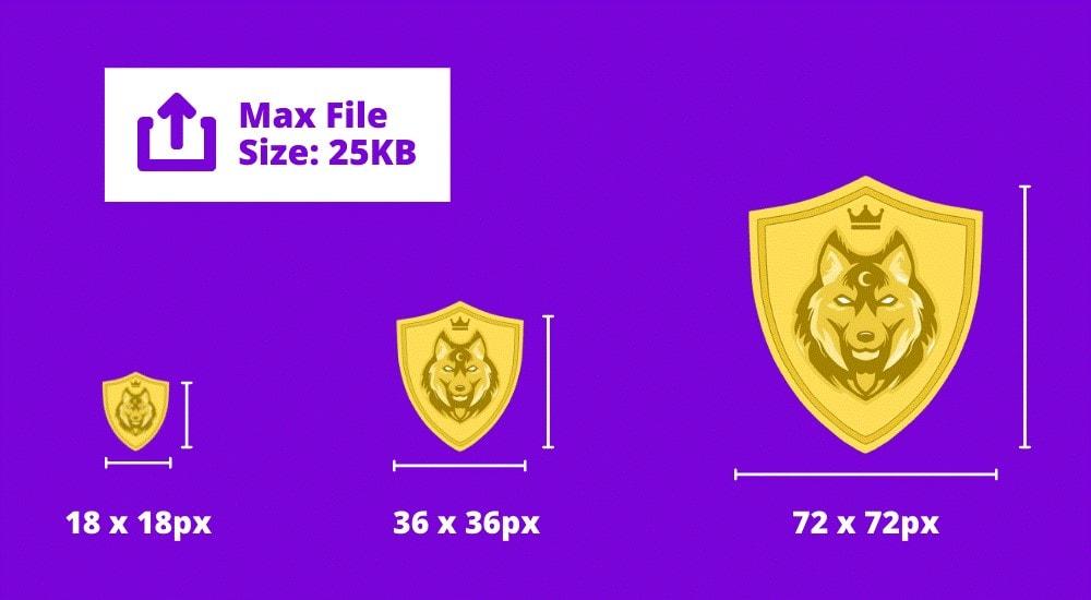 twitch badge size