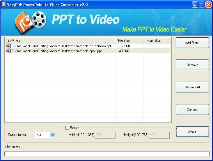 verypdf ppt to video