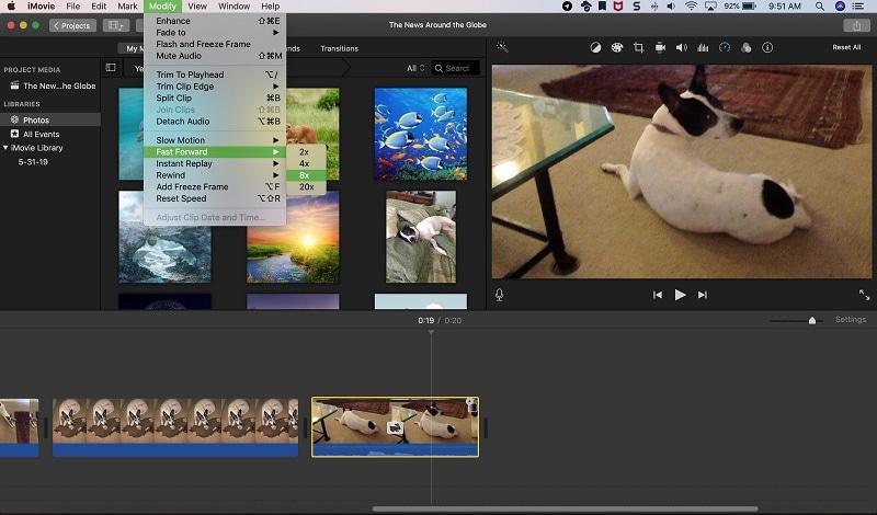 video speed controller imovie