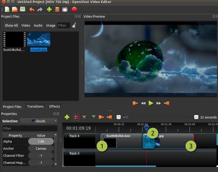 youtube video cutter openshot