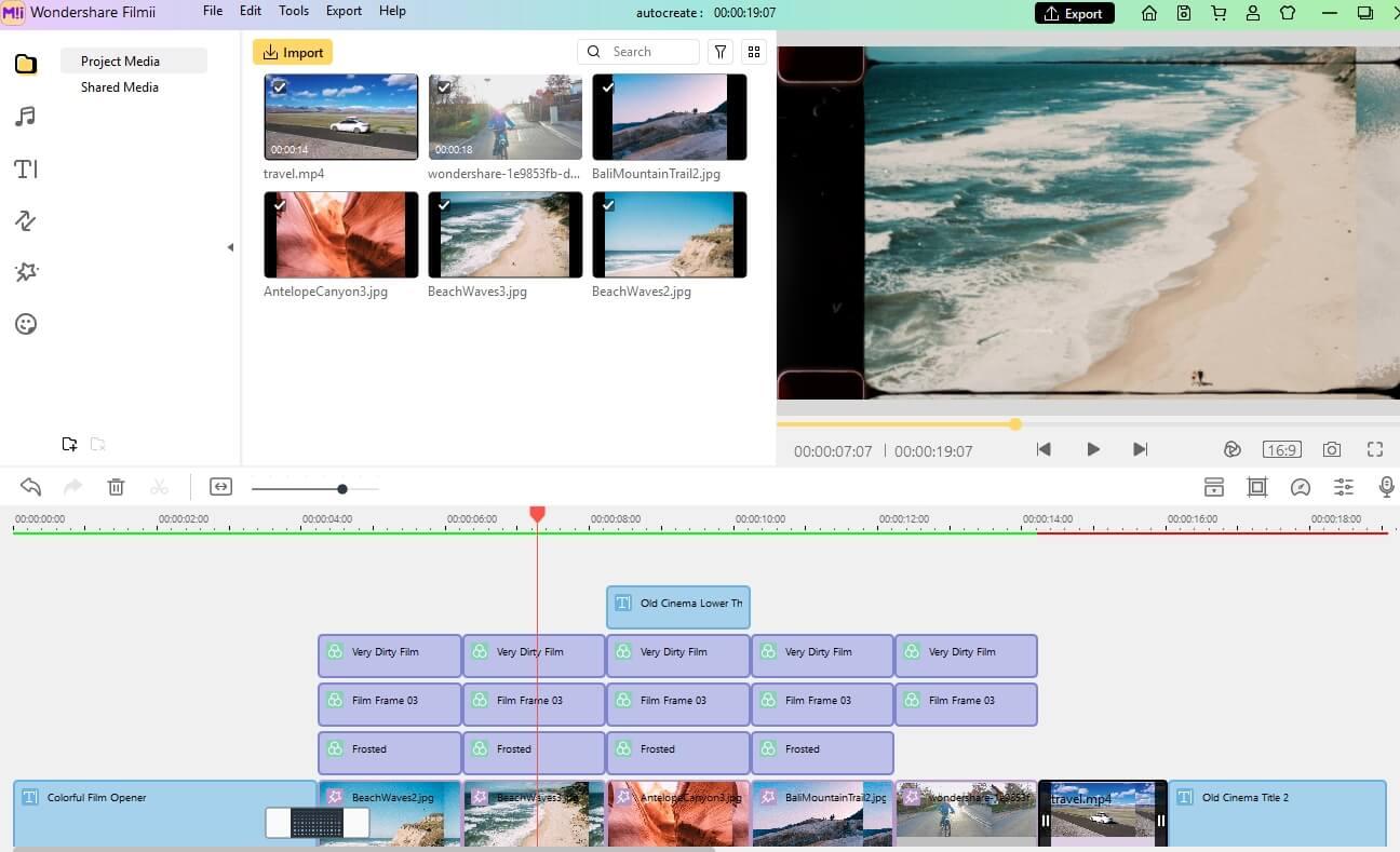 Filmii Advanced Editing Interface