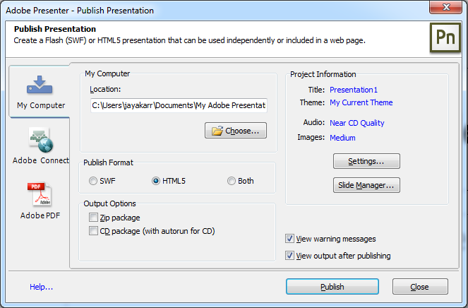 Adobe Presenter II