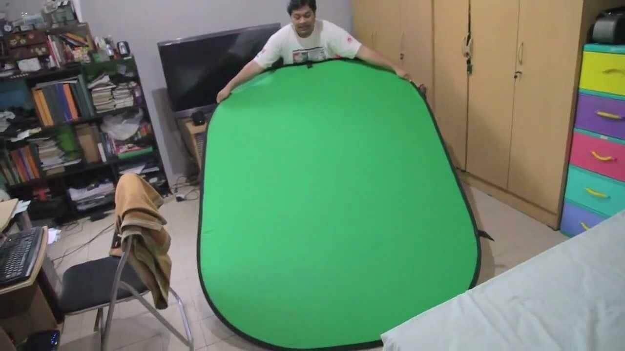 foldable green screen