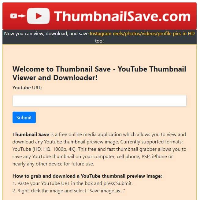 descargar thumbnail