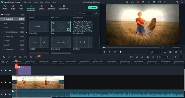 add transition to playlist video