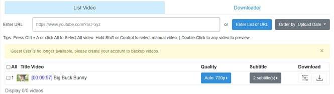 descargador de lista de reproducción de youtube