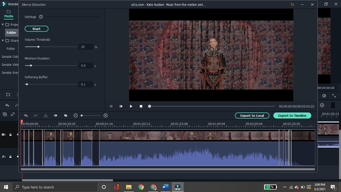 parámetros de audio