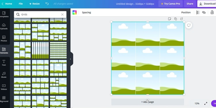add grids to puzzle feed